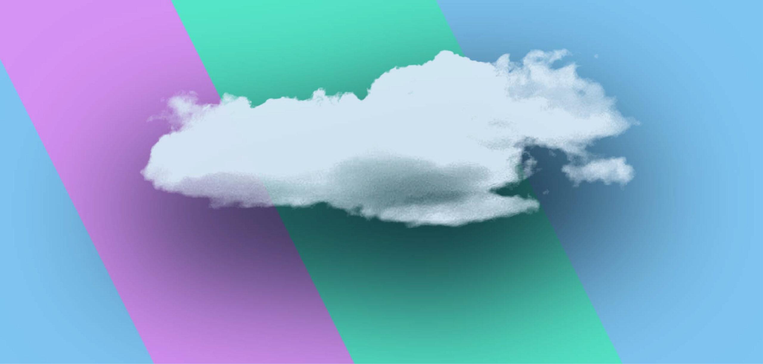 PS 做雲