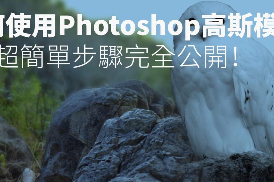 photoshop 高斯模糊